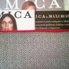 Busta porta documenti con la rivista Amica