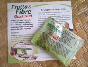 campione omaggio integratore frutta e fibra