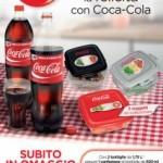 Contenitore per alimenti in omaggio con Coca Cola
