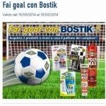 Pallone in omaggio con Bostik