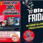 Auchan Black Friday, sconto su giocattoli ed alimentari