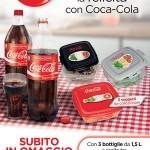 Contenitori per alimenti in omaggio con Coca-Cola