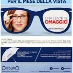 Ombrello in omaggio e visita gratuita della vista con Optissimo