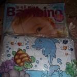 Vaschetta gonfiabile per neonati con la rivista Io e il mio bambino