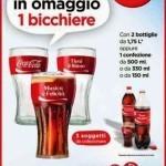 Bicchiere Coca Cola in omaggio