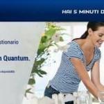 Campione detersivo Finish Quantum in omaggio