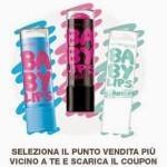 Buono sconto di 2 euro per l'acquisto di Baby lips Maybeline New York
