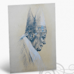 Stampa d'arte su Papa Giovanni Paolo II
