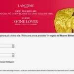 Rossetto Shine Lover Lancome in omaggio