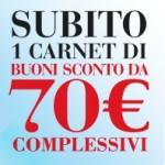 Coop: carnet di buoni sconto da 70€